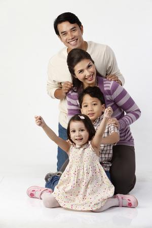 stock image of happy family