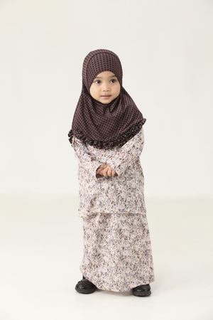 Cute  little young Muslim Malaysian girl