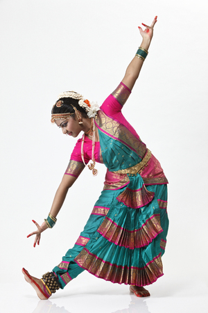 Traditional Female Indian Dancer Stock Photo
