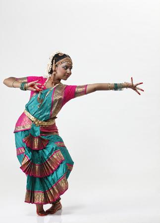 Indian female dancer performing dance