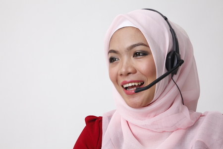 malay woman as receptionist