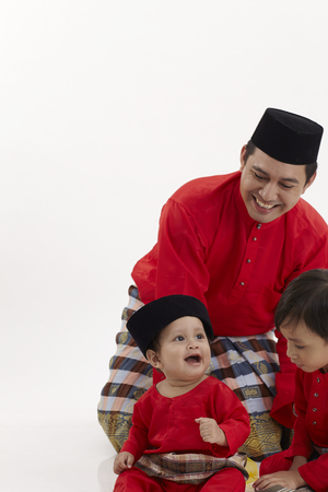 malay family ,father and two sons