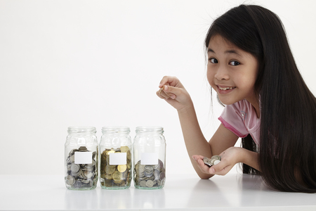 little with three saving jars