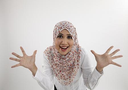 malay woman withsurprise expression