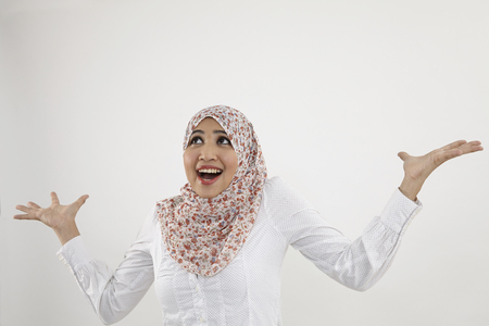 malay woman withsurprise expression Stock Photo