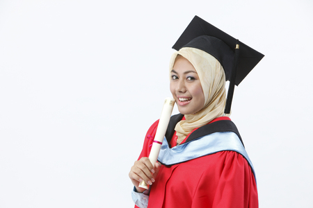 A happy young graduate