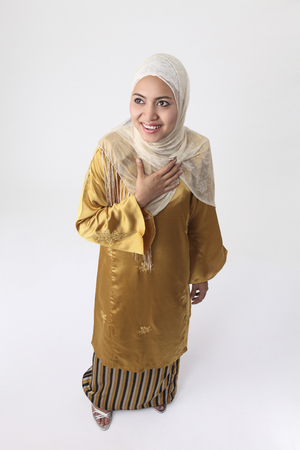 Stok image of malay woman standing.