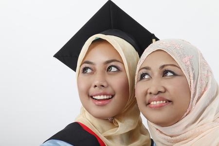 Close up of young woman and her mother