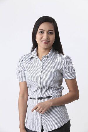 portrait of malay woman studio shot
