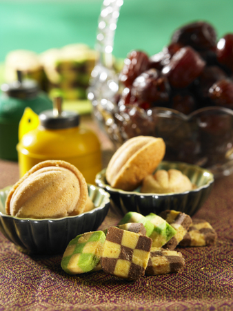 malay traditional festive foods Stock Photo