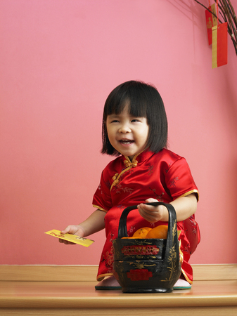 Girl in cheongsam