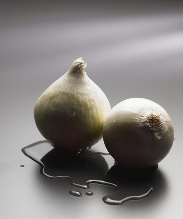 two onions with some water