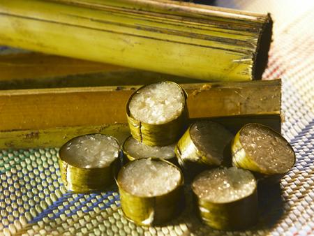 malay traditional food, lemang Stock Photo