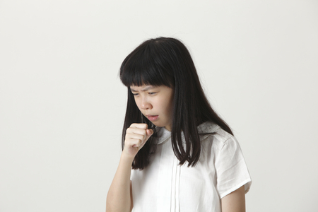 chinese girl not well,coughing