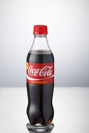 Kuala Lumpur,Malaysia 9th April 2015,can of the coca cola vanilla t on the white background