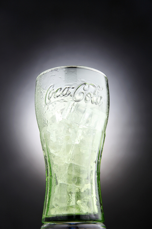 KUala Lumpur,Malaysia 27th April 2015,collection item of coca cola glass Editorial