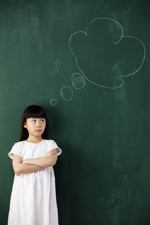 stock image about little thinking
