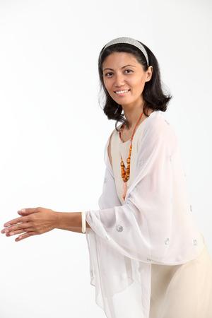 profile of malay woman greeting