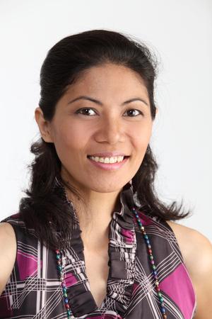 malay woman loking at camera with smile