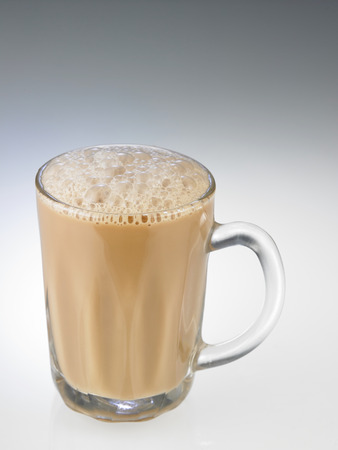 Tea with milk or Teh Tarik in Malaysia