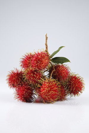 asian fruit rambutan on the plain background Reklamní fotografie