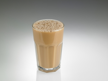 Big glass Tea with milk or Teh Tarik in Malaysia