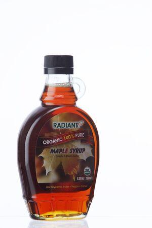 KUALA LUMPUR, MALAYSIA - Feb 17, 2016 radiant maple syrup on the white background Editorial