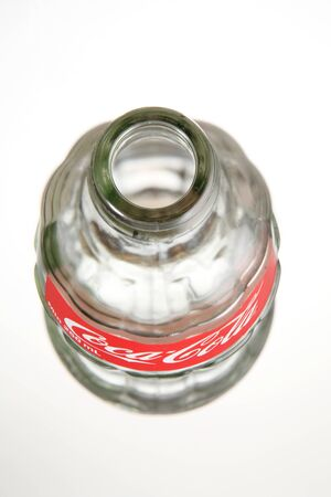 KUALA LUMPUR, MALAYSIA - june 6TH, 2015.coca cola empty bottle with cap