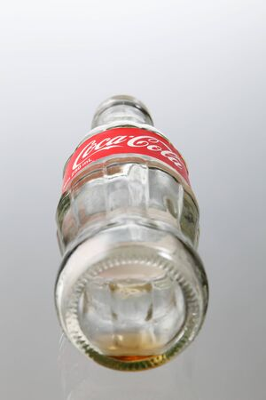 KUALA LUMPUR, MALAYSIA - june 6TH, 2015.empty coca cola empty bottle
