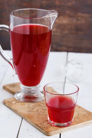 cranberry juice: Cranberry juice Stock Photo