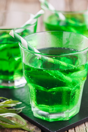 tarragon: Green tarragon drink, selective focus Stock Photo
