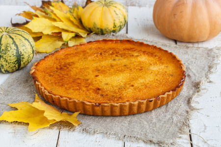 American pumpkin pie.selective focus