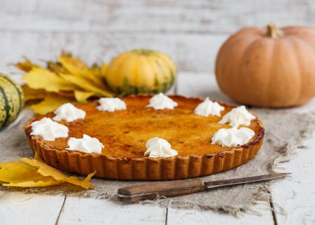 dried flower arrangement: American pumpkin pie.selective focus