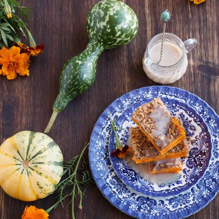 pumpkin pie: Pumpkin pie,brownies.selective focus Stock Photo