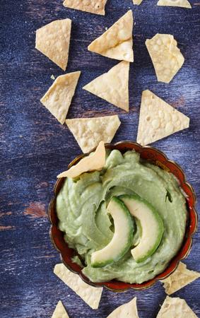 guacamole: Guacamole traditional Mexican sauce.selective focus.