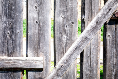 Wooden background. Texture empty surface. Copy space for design.Fence, gate.