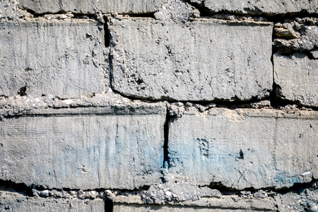 Empty Old Brick Wall Texture. Grungy Wide Brickwall. Grunge Stonewall Background. Abstract Web Banner. Copy Space  for design.
