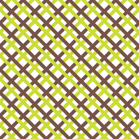 square seamless pattern with diagonal stripes in white, brown and green colors