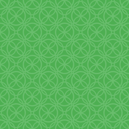 green seamless subtle pattern with ornate outlined circle shapes