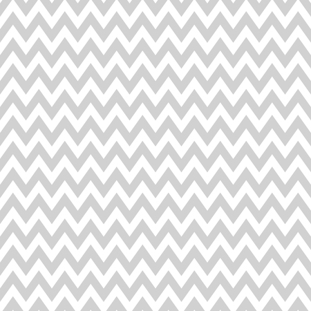 Vector seamless modern classic zigzag pattern in light grey color Illustration