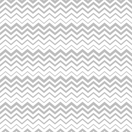 Faded zigzag vector seamless pattern in white and light gray colors