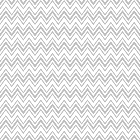 Fun seamless vector pattern with zigzag in white and light grey colors Illustration