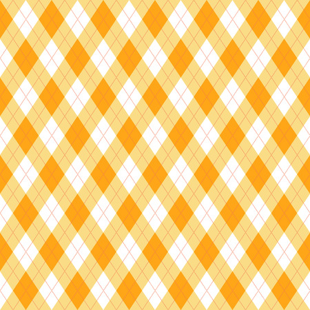 Yellow tartan vector seamless pattern in flat modern style