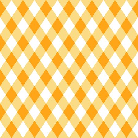 Patrón transparente de vector de cuadros amarillos en estilo plano moderno