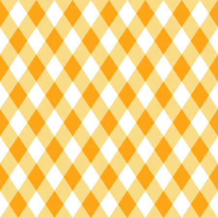 Yellow plaid vector seamless pattern in flat modern style