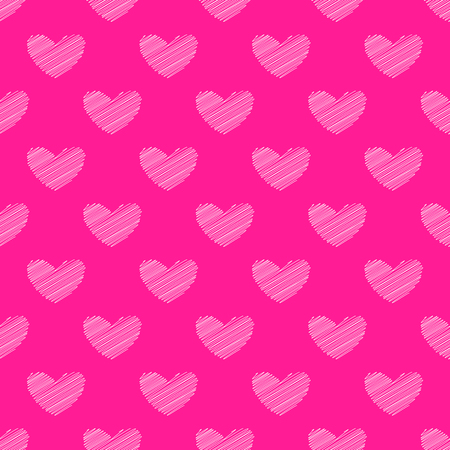 Vector seamless pattern with shaded hearts on plastic pink background