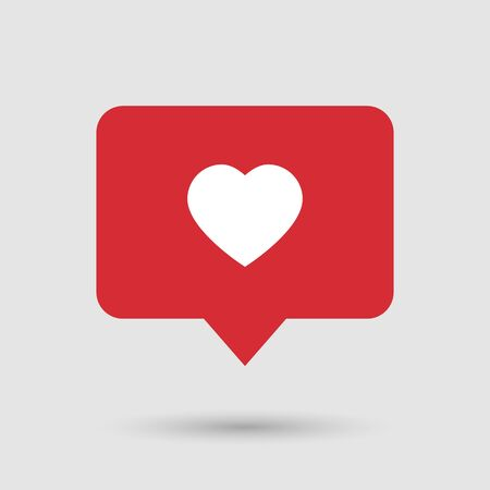 Like counter vector social media icon concept in red color