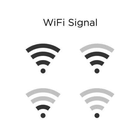Set of WiFi digital signal indicator