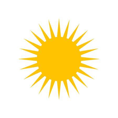 Sun vector flat icon, hot weather