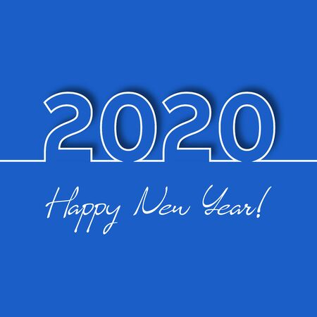 2020 vector Happy New Year greeting card